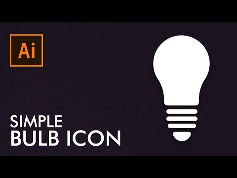 How To Make Simple Bulb Icon In Adobe Illustrator