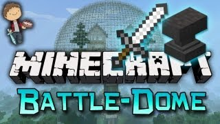 Minecraft: BATTLE-DOME Mini-Game w/Mitch&Friends! Build Phase!