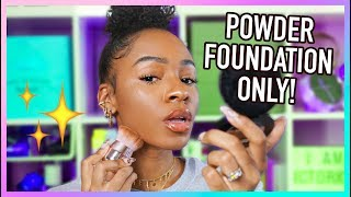 Flawless POWDER FOUNDATION Routine (Full Coverage) + How To Find the Perfect Foundation for YOU! by VICKYLOGAN
