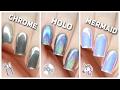 Apply Chrome Holo  Amp Mermaid Nail Powders Perfectly