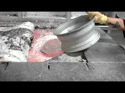 Fascinating Footage of Aluminum Wheels Being Melted Down in an Extremely Hot
