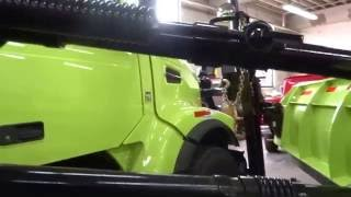 The Wing Plow on the Volvo VHD in Benching Position