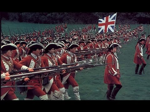 British grenadiers march — British line infantry attack (видео)