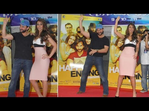 Saif And Ileana At Mithibai College For Promotion Of Happy Ending