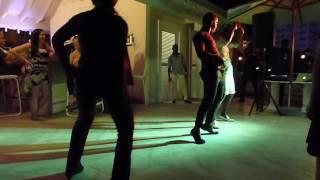 Bahia Principe dancing crew at the Beach Coconut Bar.