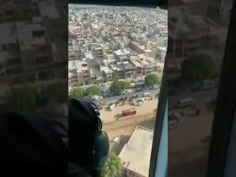 Fottage from Helicopter Of Crashed Pia Plane At Karachi Malir Cantt