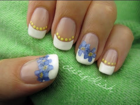 Nail Art using Real Flowers!