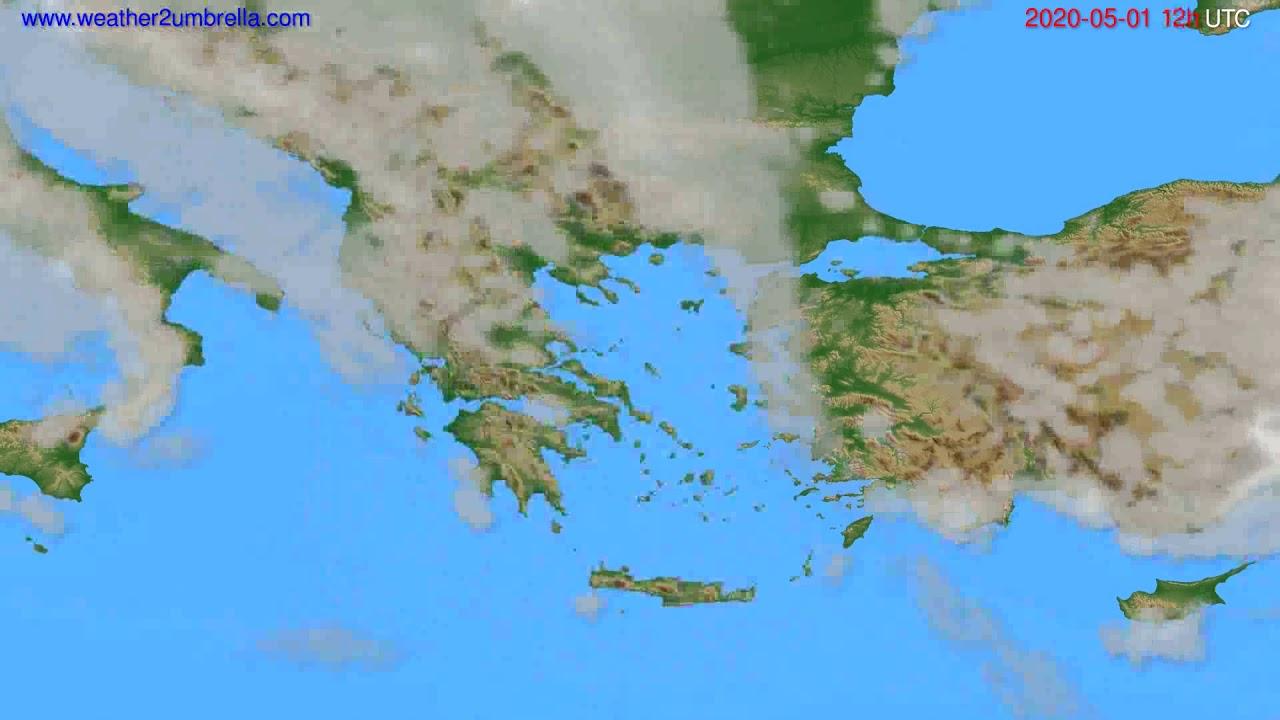 Cloud forecast Greece // modelrun: 00h UTC 2020-05-01