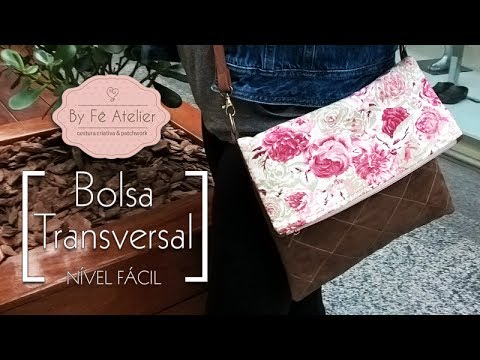 DIY::: Bolsa Transversal - By Fê Atelier ( Nível Fácil ) (видео)