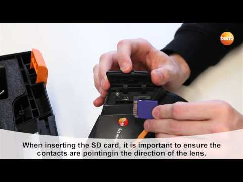 testo 875i - Step 06 - How to Insert the SD card
