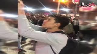 الجماهير في التحرير إحتفالاً بتعديل الدستور
