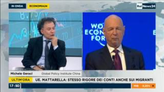 Geraci on Rainews24 talking about Xi in Davos