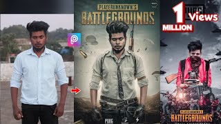 PicsArt PUBG Game Poster Photo Editing Tutorial Step By Step in Picsart Step By Step in Hindi