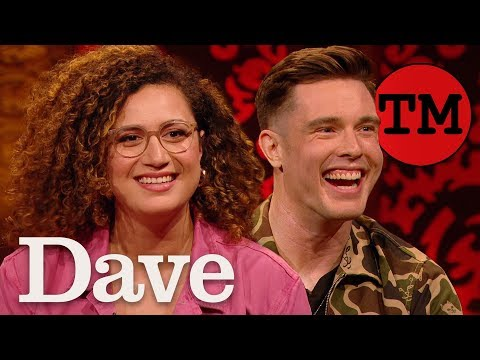 Ed Gamble and Rose Matafeo hide aubergines from Alex Horne : Video 2019 :     Chortle : The UK Comedy Guide
