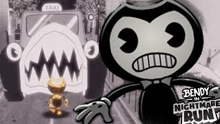 CAN BENDY ESCAPE THIS KILLER TAXI?!   Bendy in Nightmare Run CHAPTER 1 ENDING