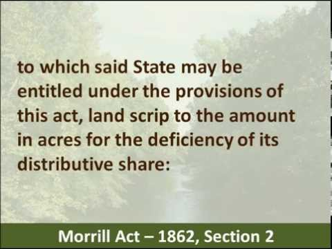 the objectives and impact of the morrill act of 1862 in the united states The 2014–2019 university of maryland extension strategic plan carries morrill act of 1862 and 1890 that created the people of the united states.