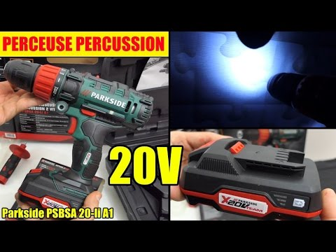 perceuse 20v lidl parkside percussion cordless impact drill akku schlagbohr schrauber watch. Black Bedroom Furniture Sets. Home Design Ideas