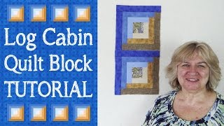 Log Cabin Quilt Block Tutorial - In this video tutorial, we show you how to piece the Log Cabin Quilt Block. ---DOWNLOAD PATTERN WITH FULL CUTTING INSTRUCTIONS---http://www.alandacraft.com/log-cabin-quilt-block-tutorial/---WATCH MORE QUILT BLOCK TUTORIALS HERE---https://www.youtube.com/playlist?list=PLMxvvtt3Z3CKZx04rEe8Vod1SP1EX767l---FOLLOW US ON---Website: http://www.alandacraft.comFacebook: http://www.facebook.com/alandacraftPinterest: http://www.pinterest.com/alandacraft/Twitter: http://twitter.com/AlandaCraftTumblr: http://www.tumblr.com/blog/alandacraftInstagram: http://instagram.com/alandacraft