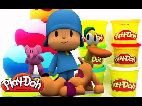 Surprise Pocoyo Eggs Kinder Surprise Play Doh Disney Huevo Kinder sorpresa