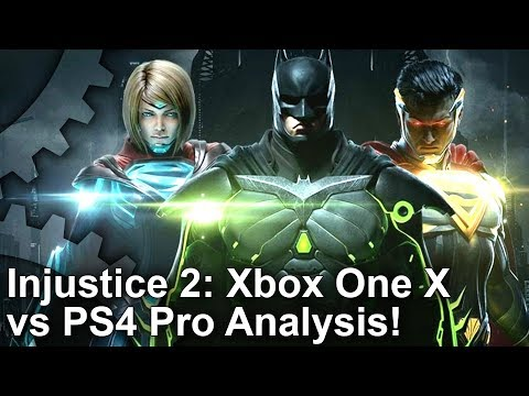 [4K HDR] Injustice 2: Xbox One X vs PlayStation 4 Pro Graphics Comparison!