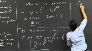 Damped Harmonic Oscillators | MIT 18.03SC Differential Equations, Fall 2011