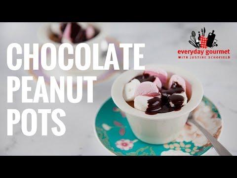 Chocolate Peanut Pots   Everyday Gourmet S7 E84