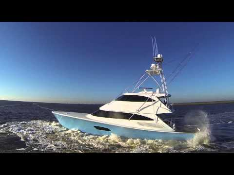 The awesome Viking 92 Enclosed Bridge Convertible Sport Fishing Machine