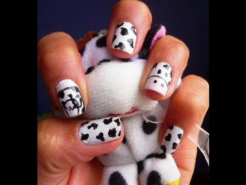 Tutorial decoracion de uñas(animal print vaquitas)