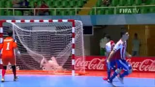 Watch highlights of the Paraguayans and Vietnamese, who played a great match at the Futsal World Cup in Colombia. MORE COLOMBIA 2016 MATCH HIGHLIGHTS: http:/...