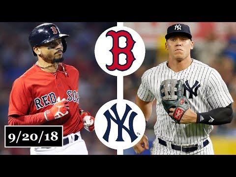 Boston Red Sox vs New York Yankees Highlights || September 20, 2018