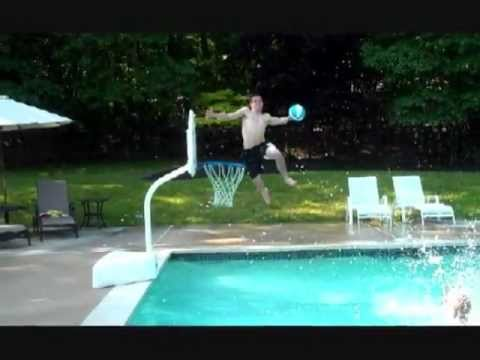 Amazing Pool Basketball Dunks