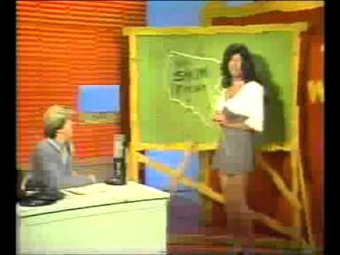 Butch McCain as a weather girl