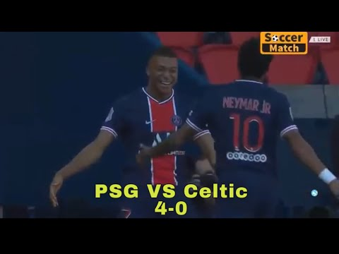 Neymar Jr Angry 😤 PSG VS Celtic 4-0 all Goals & highlights HD