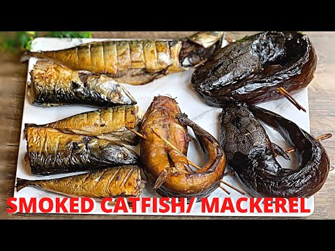 OVEN GRILLED SMOKED CATFISH AND MACKEREL | Ghanaian 'ADWENE' | Nigerian DRY FISH at Home |