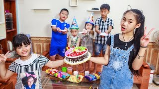 Video Kids Go To School | Day Birthday Of Chuns Children Make a Birthday Cake Color Rainbow MP3, 3GP, MP4, WEBM, AVI, FLV Juli 2018