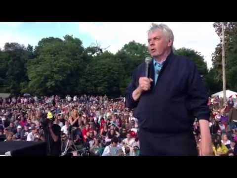 Icke - David Icke gives a speech to thousands of people at the Bilderberg 2013 protests.