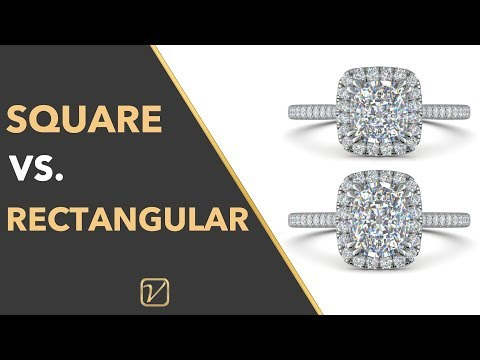 SQUARE VS. RECTANGULAR CUSHION CUT DIAMOND ENGAGEMENT RINGS