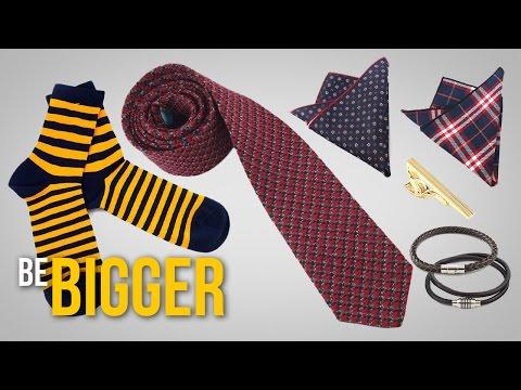 Как подобрать галстук, нагрудный платок, носки, браслеты? Мужские аксессу… видео