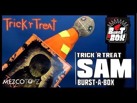 Mezco Trick R Treat Burst A Box Sam Review | Spooky Spot 2019