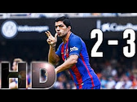 Barcelona vs Valencia 3-2 All Goals and highlights ~ 22-10-2016