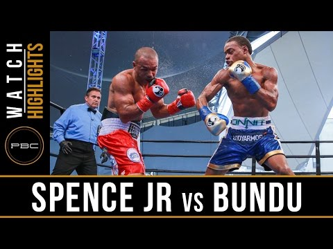 errol spence jr vs leonard bundu - highlights