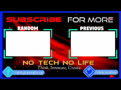 Free Professional Outro Template-For YouTube Endscreen-NTNL#2-2017 (видео)