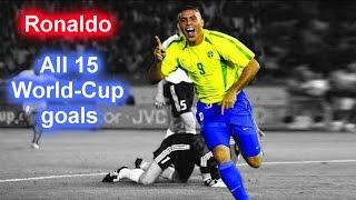 Video Ronaldo ► All 15 World Cup GOALS ◄ RECORD ► ✔ ◄ BRAZIL ► ★★★★★ MP3, 3GP, MP4, WEBM, AVI, FLV Juni 2018