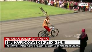 Video Bagi-bagi Sepeda Ala Presiden Jokowi di HUT Ke-72 RI - Merdeka dalam Bhinneka MP3, 3GP, MP4, WEBM, AVI, FLV November 2018