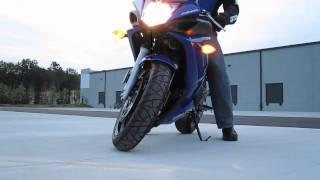4. Yamaha FZ6R HD - Walkaround, stock exhaust sound and Ride