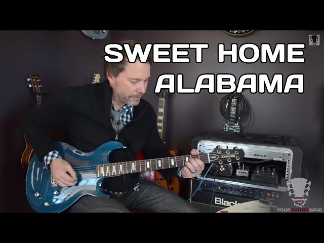 How to play sweet home alabama guitar lesson for Who sang the song sweet home alabama