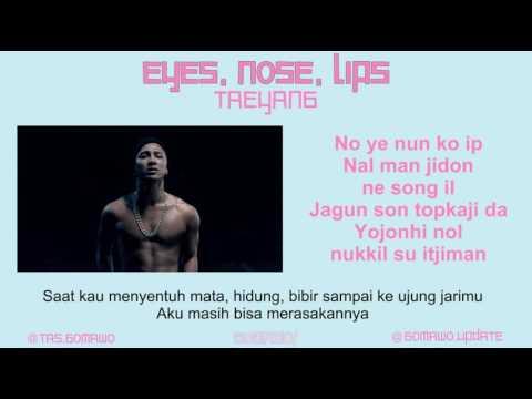 Video TAEYANG- EYES, NOSE, LIPS [MV, EASY LYRIC, LIRIK INDONESIA] download in MP3, 3GP, MP4, WEBM, AVI, FLV January 2017