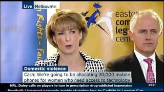 Prime Minister's Press Conference, support for victims of domestic violence