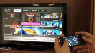 Demo showing PlayJam's Companion App working the GameStick UI - YouTube