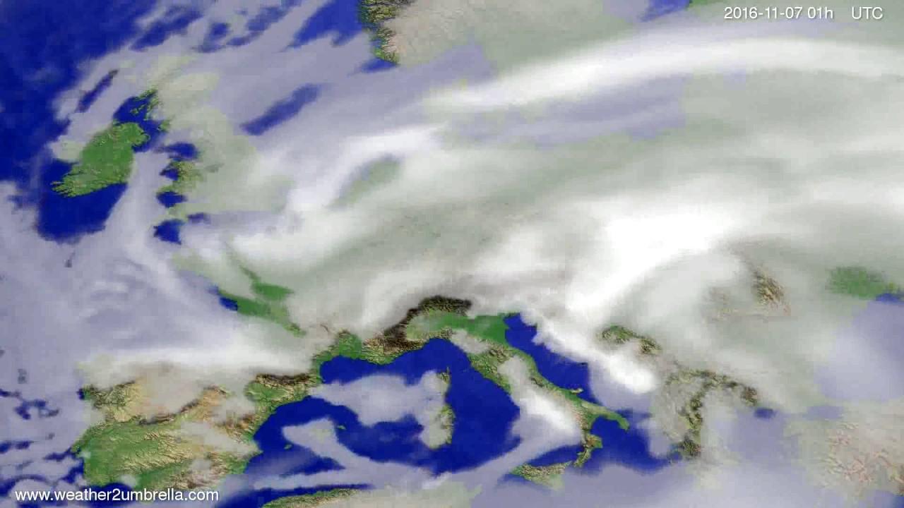 Cloud forecast Europe 2016-11-04